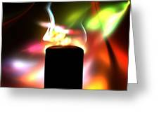 Candle And Colors Greeting Card
