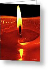 Candle Flame Greeting Card