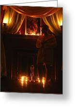 Candlelight Glow Greeting Card