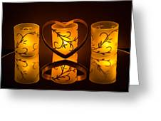 Candlelight Love Greeting Card