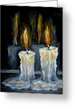 Candles Oil Painting Greeting Card