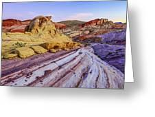 Candy Cane Desert Greeting Card