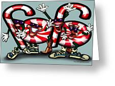 Candy Cane Gang Greeting Card