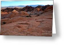 Candy Cliffs Sunset Greeting Card