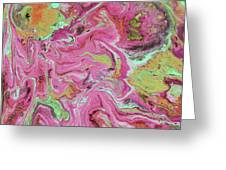 Candy Coated- Abstract Art By Linda Woods Greeting Card