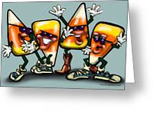 Candy Corn Gang Greeting Card
