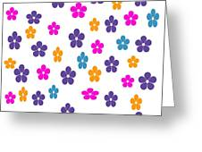 Candy Flower Bright Greeting Card