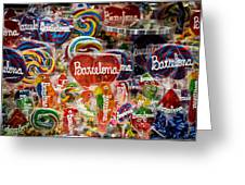 Candy Stand - La Bouqueria - Barcelona Spain Greeting Card