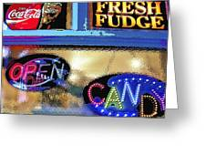 Candy Store Window Greeting Card