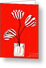 Candy Stripe Tulips Greeting Card