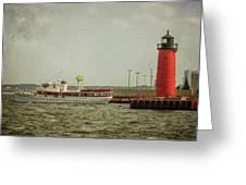 Canim And Milwaukee Pierhead Greeting Card