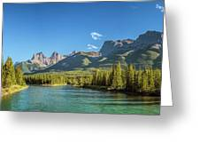 Canmore Alberta Golden Hour Greeting Card
