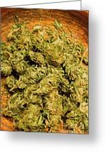 Cannabis Bowl Greeting Card
