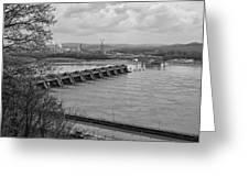Cannelton Locks And Dam Greeting Card