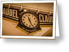 Cannes - Market Clock  Greeting Card