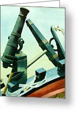 Cannon And Anchor Greeting Card