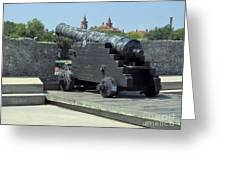 Cannon At The Castillo Greeting Card