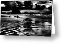 Cannon Beach At Dusk Greeting Card