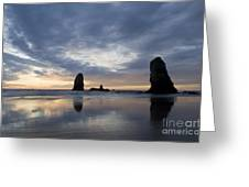 Cannon Beach At Sunset 5 Greeting Card