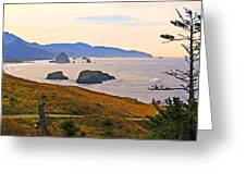 Cannon Beach From Ecola State Park Greeting Card