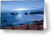 Blue Waters On Cannon Beach Greeting Card
