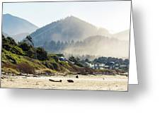 Cannon Beach Oceanfront Vacation Homes Greeting Card