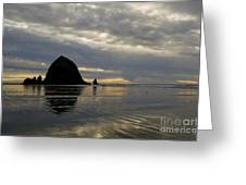 Cannon Beach Reflections Greeting Card