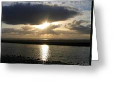 Cannon Beach Sunburst Greeting Card