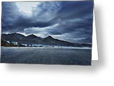 Cannon Beach Under Clouds Greeting Card
