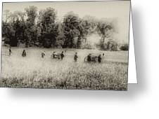 Cannon Fire At Gettysburg  Greeting Card