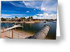 Cannon Over Water Greeting Card
