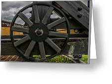 Cannon Wheel Greeting Card