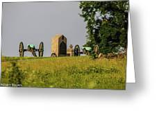 Cannons Behind Hancock Avenue Greeting Card