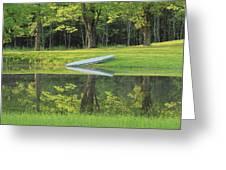 Canoe At Ponds Edge Greeting Card