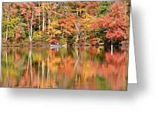 Canoe Fishing  Fall Greeting Card