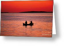 Canoe Fishing Greeting Card