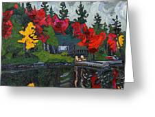 Canoe Lake Chairs Greeting Card by Phil Chadwick