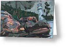 Canoe Lake Light Greeting Card