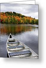 Canoe On A Lake Greeting Card