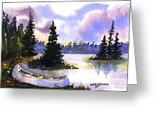 Canoe On Land Greeting Card