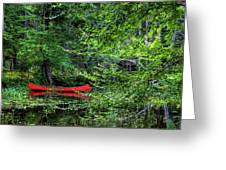 Canoe On The Shore Greeting Card
