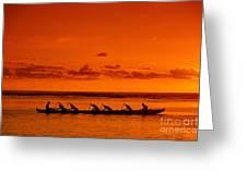Canoe Paddlers Greeting Card