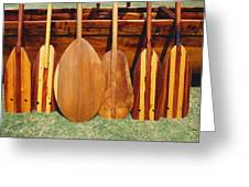 Canoe Paddles Greeting Card
