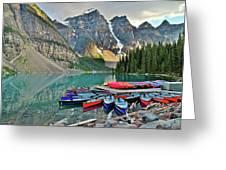 Canoe Paradise Greeting Card
