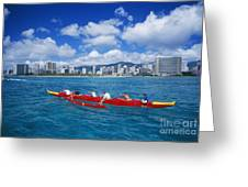 Canoe Race Greeting Card