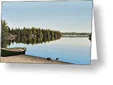 Canoe The Massassauga Greeting Card