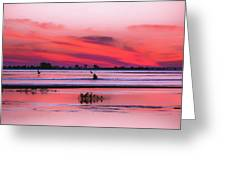 Canoeing On Color Greeting Card