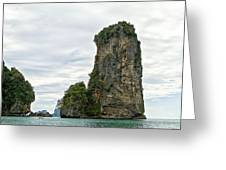 Canoeing The Thailand Scarps Greeting Card