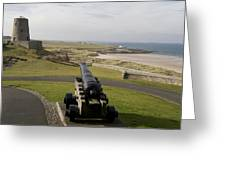 Canon Defends Bamburgh Castle Greeting Card