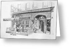 Cantina Restaurant In Saratoga Springs Ny Storefront Greeting Card